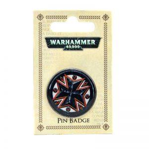 Warhammer 40k Black Templars pin badge