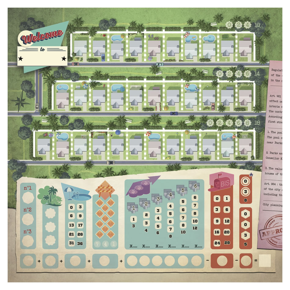 Your Perfect Home Roll /& Write Board Game Welcome To..