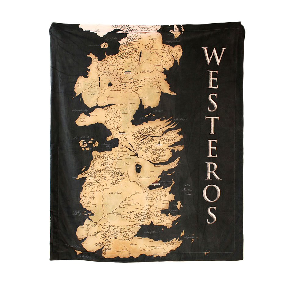 Game of Thrones Westeros Map Air Conditioner Blanket Soft Sofa Nap Throw Blanket