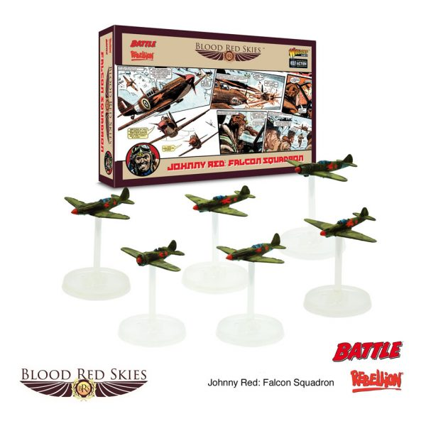 johnny red's falcon squadron for blood red skies by warlord games