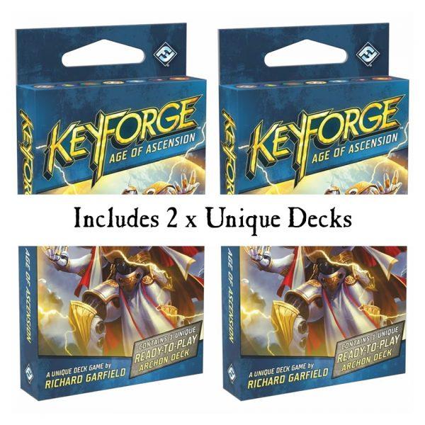 Keyforge age of ascension starter set decks
