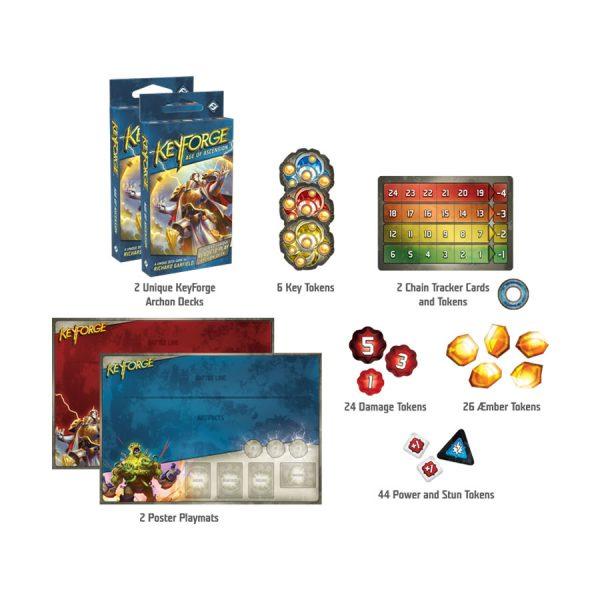 Keyforge age of ascension starter set contents