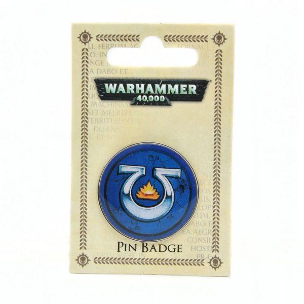 warhammer 40k ultramarines enamel pin badge