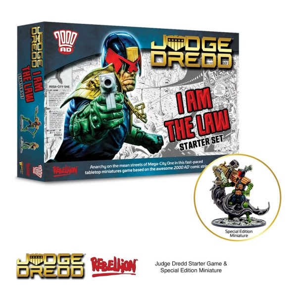 Judge Dredd Miniatures Game I Am The Law Starter Set