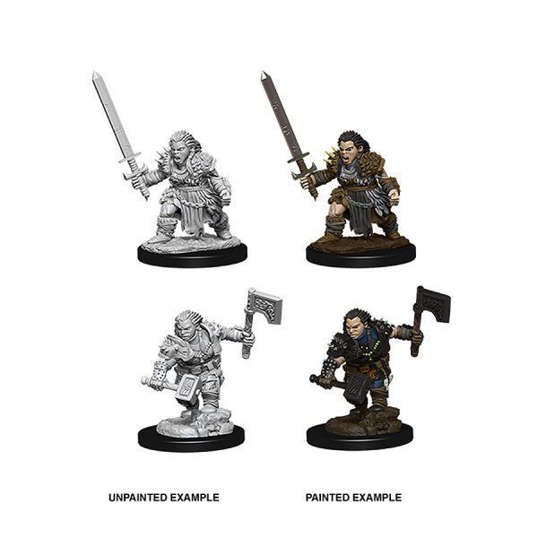 Female Dwarf Barbarian miniature - Pathfinder Deep Cuts range