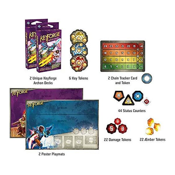 Worlds Collide starter set contents