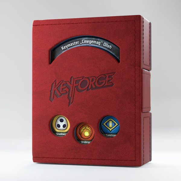 red keyforge deck book by gamegenic