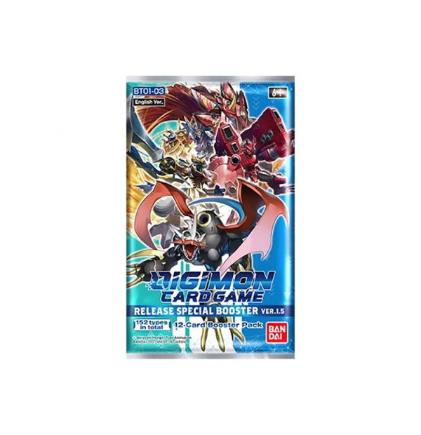 Digimon Card Game: Ver.1.5 BT01-03 Release Special Booster Pack