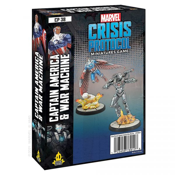 Captain America & War machine Character Pack Marvel Crisis Protocol