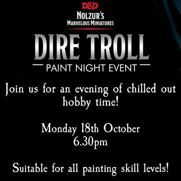 Dire Troll Paint Night